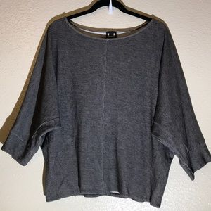 H by Bordeaux dolman sleeves top size large